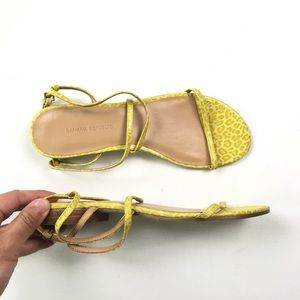 Banana Republic Womens Yellow Cheetah Flats 7 A42